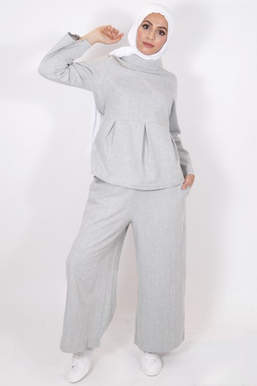 Eva Ligt Grey Top pas cher & discount