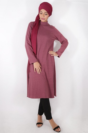 Diyya Tunic Burgundy Color pas cher & discount