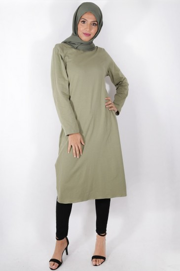 Tunic Diyya khaki color pas cher & discount