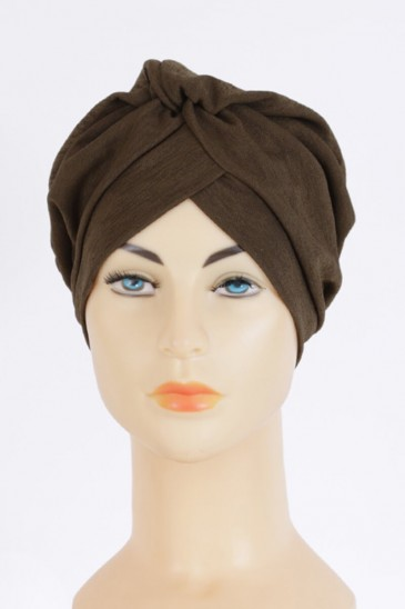 Turban Rania Khaki Color pas cher & discount