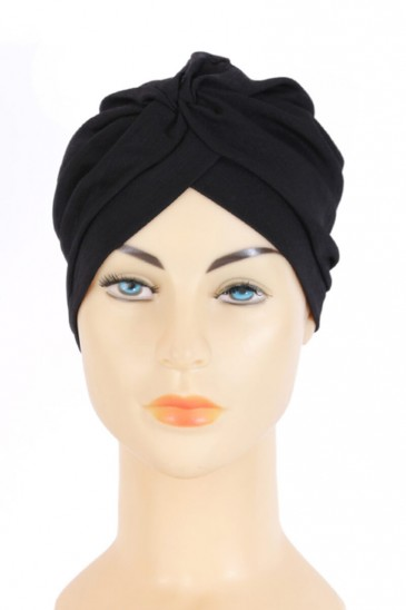 Turban Rania Black Color pas cher & discount
