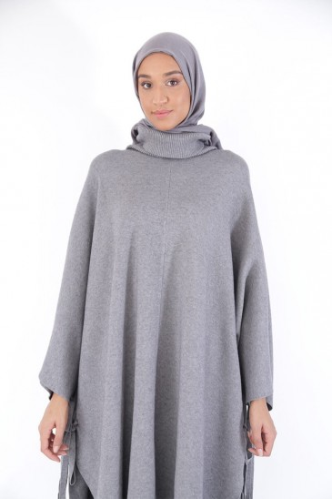 Poncho Maribel Grey Color pas cher & discount
