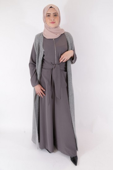 Sleeveless vest Jahida Grey Color pas cher & discount