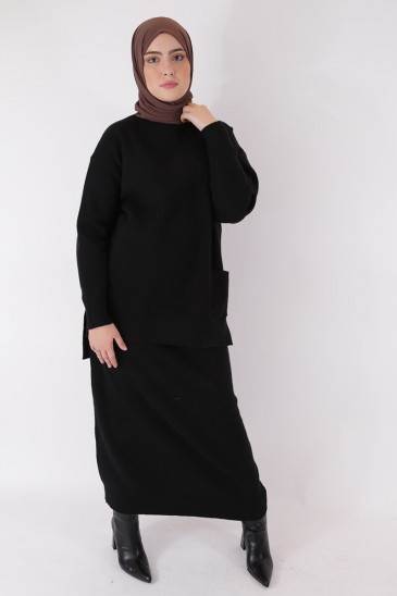 Skirt Hafeeza- Black Color pas cher & discount
