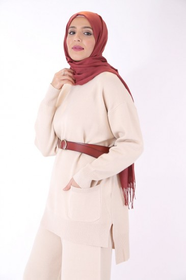 Shirts Hafeeza Beige Color pas cher & discount