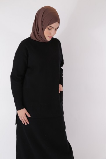 Shirts Hafeeza Black Color pas cher & discount