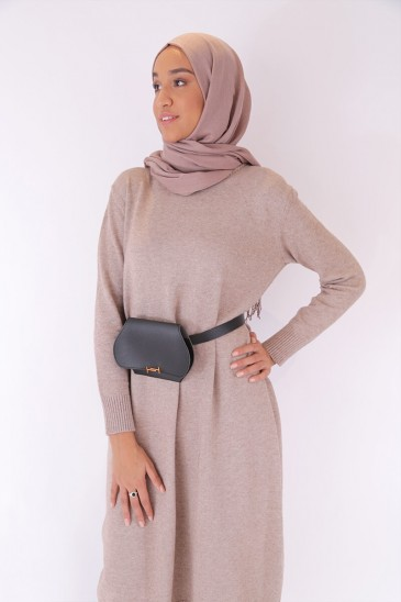 Pullover Aby Navy Taupe Color pas cher & discount