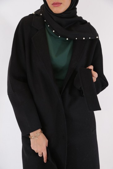 Coat Elif Black Color pas cher & discount