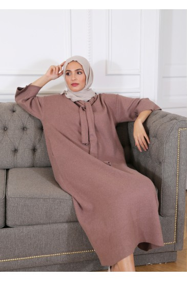 Anoushka Dress Taupe Color pas cher & discount