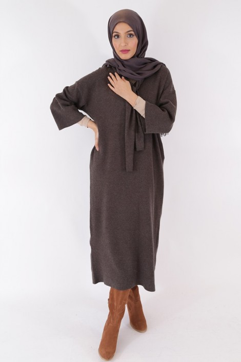 Anoushka Dress Anthracite Grey Color