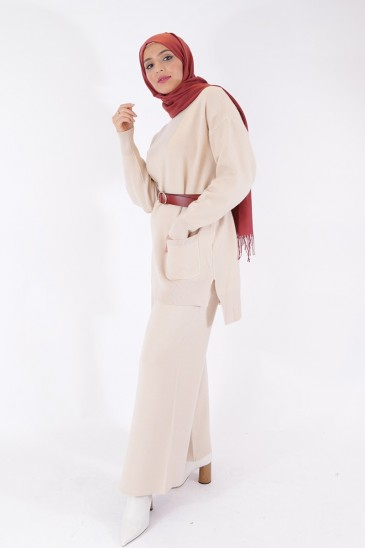 Noreen pant Ecru Color pas cher & discount