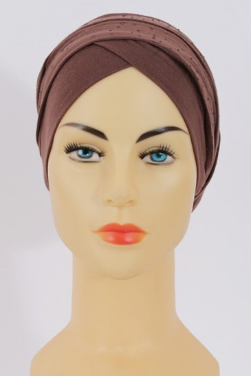 Turban MINELLI Rhinestone Brown Color pas cher & discount