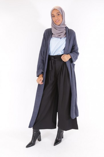 Jacket Nayla Blue - grey Color pas cher & discount