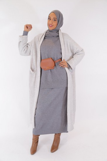 Jacket Nayla Grey Color pas cher & discount
