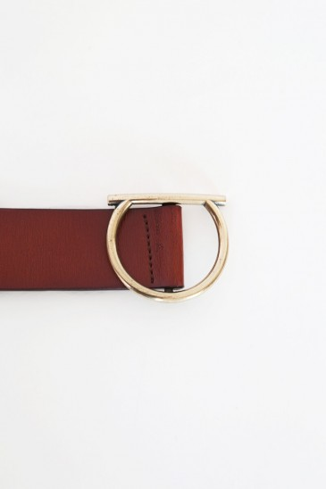 Half moon Waist bag cognac color pas cher & discount