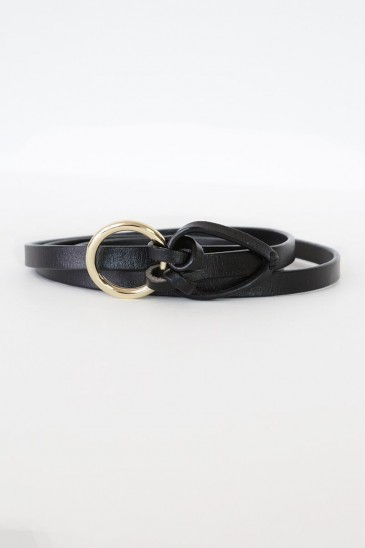 a knot fashion Belt black color pas cher & discount