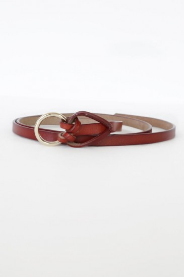 a knot fashion Belt cognac color pas cher & discount