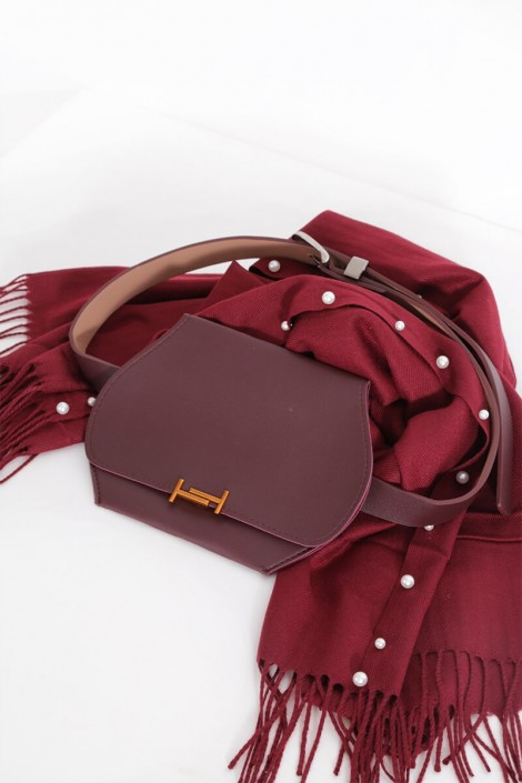 WAIST BAG BURGUNDY COLOR