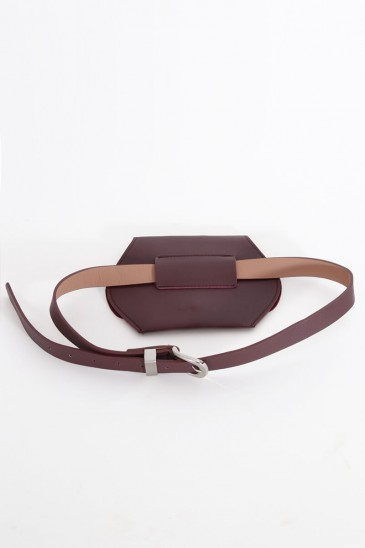 WAIST BAG BURGUNDY COLOR pas cher & discount