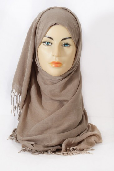 Hijab Pashmina royal - Greige color pas cher & discount