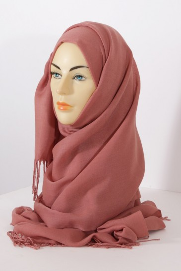 Hijab Pashmina royal - Orange Red Tones - Apricot pas cher & discount