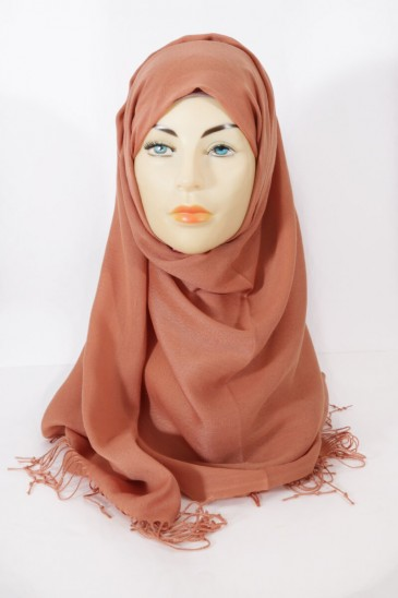 Hijab Pashmina royal - Orange red tones - Sienna pas cher & discount