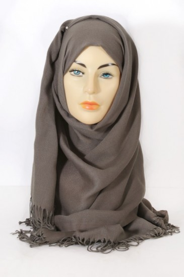 Hijab Pashmina Royal mouse grey pas cher & discount
