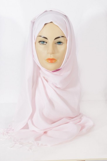 Hijab Pashmina royal- powder pink pas cher & discount