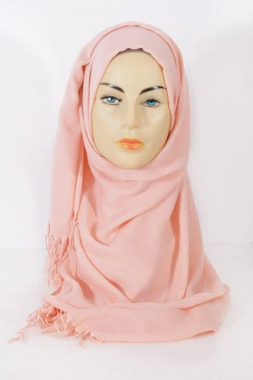 Hijab Pashmina royal- Salmon light pas cher & discount