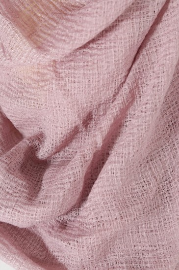 Hijab bubble chiffon pleated old pink pas cher & discount