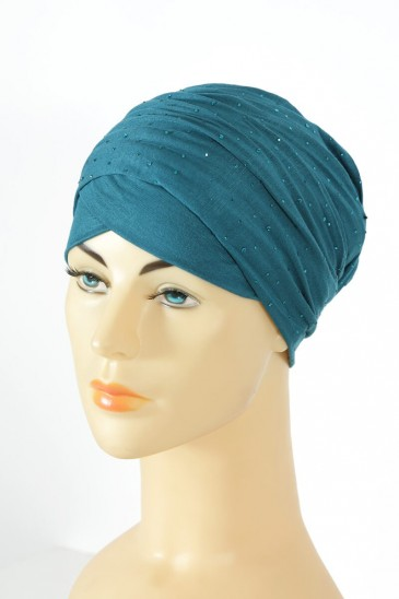 Turban minelli Teal color pas cher & discount