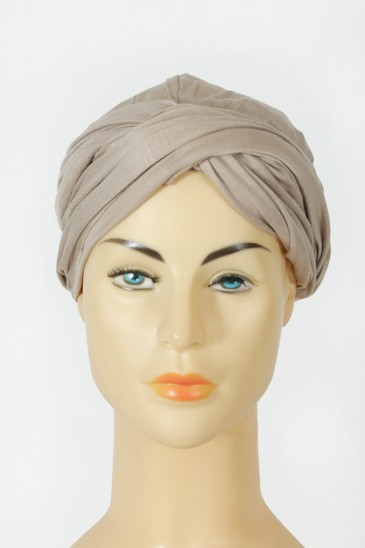 Turban Alexia for woman light taupe color pas cher & discount