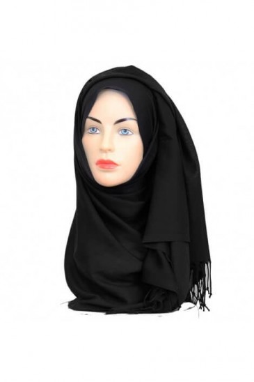 Hijab Pashmina Royal black pas cher & discount