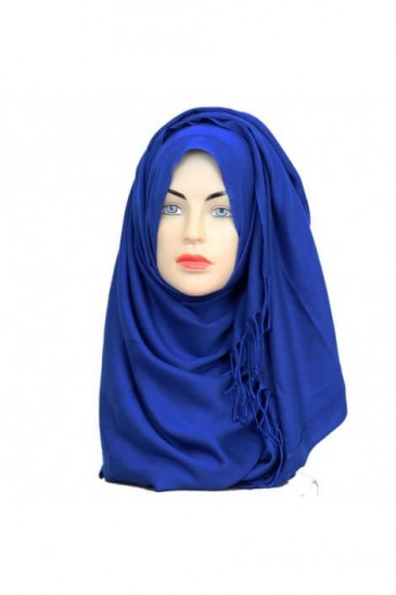 Hijab Pashmina Royal king blue pas cher & discount