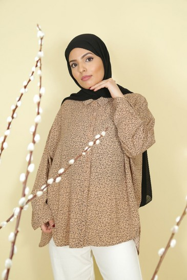Woman shirt Solenne Camel color pas cher & discount