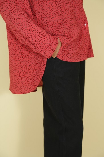 Woman shirt Solenne Red color pas cher & discount