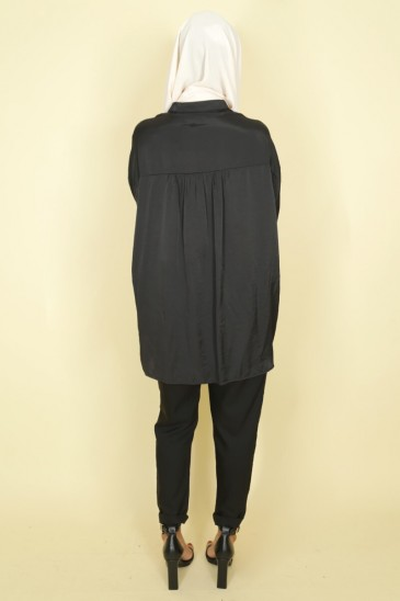 Woman shirt Anissa black color pas cher & discount