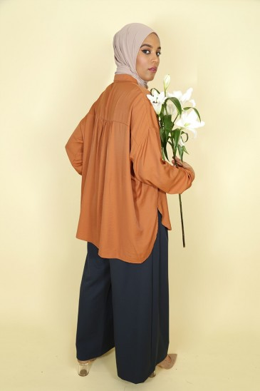 Woman shirt Anissa Camel color pas cher & discount