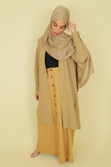 Tunic Ghyslene military green color pas cher & discount
