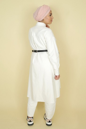 Tunic Ghyslene White color pas cher & discount