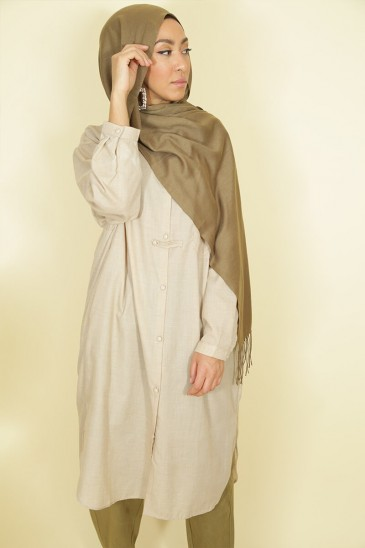 Tunic Nadjah Beige color pas cher & discount