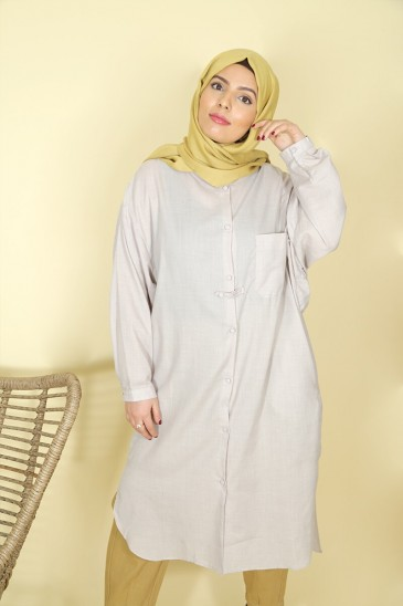 Tunic Nadjah light grey color pas cher & discount