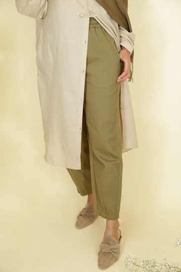 Woman Pant Nurhan military green pas cher & discount