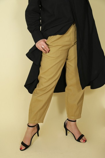 Woman Pant Nurhan light camel pas cher & discount