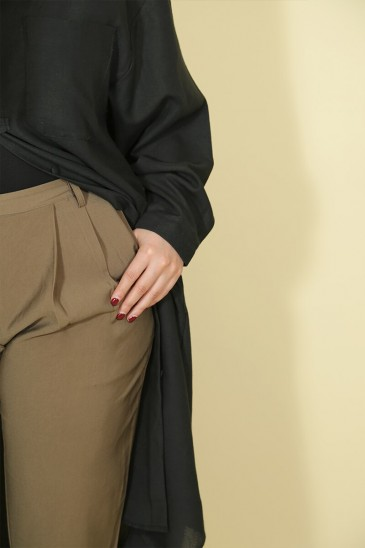 Woman Pant Rondha olive green pas cher & discount
