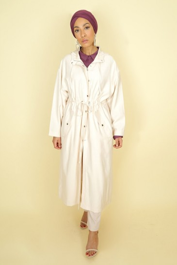 Trench Lamya Cream Color pas cher & discount