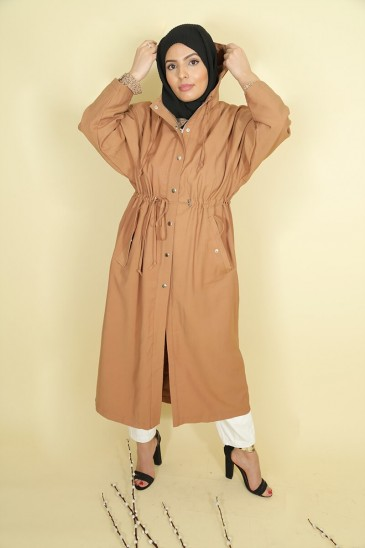 Trench Lamya Capucchino Color pas cher & discount