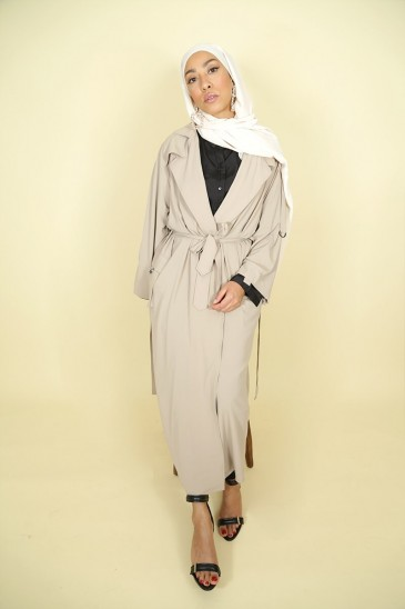 Trench Manila Beige Color pas cher & discount
