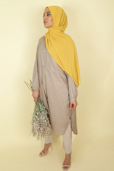 Tunic Nadjah Taupe color pas cher & discount