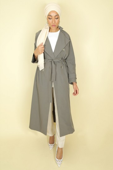 Trench Thamara Grey color pas cher & discount